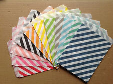 25 Colored Favor Food Oil Paper Party Bags Diagonal Striped Craft Bag For Party
