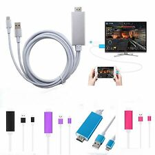 6 feet Dock to AV HDMI/HDTV TV Cable Adapter for Iphone 5 5S 6 6S 6 plus Ipad