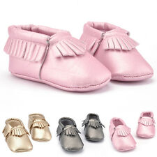 Newborn Baby Boys Girl Toddler Soft Sole Infant Kid Moccasins Tassel Shoes gifts
