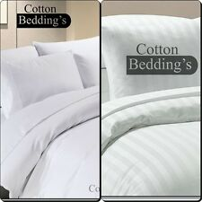 Festive Combo Bedding 800 1000 1200 TC Egyptian Cotton Hotel Double Size - White
