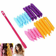 18PCS/Set Magic Hair Curlers Styling Perm Ringlets Rollers DIY Wave Curl Styles