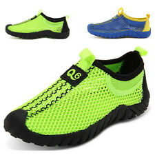 Boys Breathable Sport Shoes Slip on Mesh Shoes Soft Bottom Casual Shoes Non Slip
