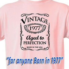 """40th BIRTHDAY OLD WESTERN Cowgirl PINK T-Shirt """"Vintage 1976 Aged To Perfection"""""""