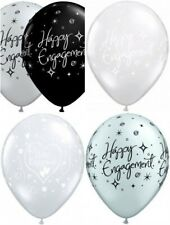 "15  Qualatex 11"" Engagement Latex Helium Quality Balloons Assorted Design"