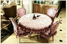 """86"""" Round Cotton Table Cloth Table Cover Floral Printing For Kitchen 153"""