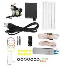 Complete Tattoo Kit Set Equipment Machine Needles Power Supply Gun Color Inks A