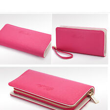 New Simple Fashion Lady Women Leather PU Purse Clutch Wallet Handbag Card Holder