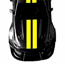 "Fits Ford MUSTANG 9"" Double Center Rally RACING STRIPES Vinyl Decal Car Graphics"