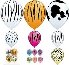 "Qualatex 20 x 11"" Animal Print Latex Balloons Suitable for air or helium"