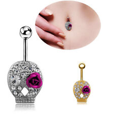 Beauty NEW Crystal Rhinestone Belly Button Ring Navel Bar Body Piercing Jewelry