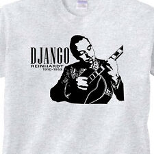 DJANGO Reinhardt RESPECTED, LEGENDARY Jazz Guitarist GREY T-Shirt