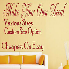 custom personalised wall sticker design your own decal sticker quotes images