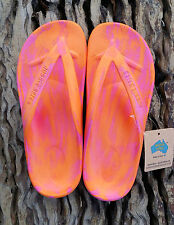 Orange/Pink STARFISH Thongs from Aussie Soles very comfortable arch support