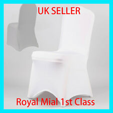 White Spandex Lycra Chair Cover Covers Wedding Party Banquet Anniversary