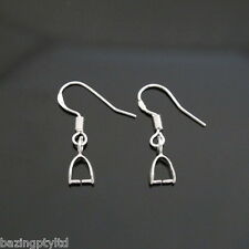 925 Sterling Silver Ear Hook Earrings Pinch Bail Dangle Findings Earwire