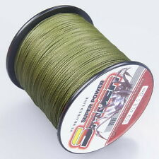 100M-2000M Army Green 12-150LB Dyneema100%PE Spectra Braid Fishing Line *