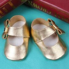 Toddler Baby Girls Leather Bow Crib Shoes Newborn Prewalker Soft Sole Sneakers