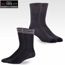 Sox Fifth Ave Men's Combed Cotton Dress Crew Socks 2-Pair Pack, Size 10-13 NWT