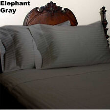 Scala Bedding 1000-TC 100% Cotton Flat Sheet Elephant Gray Stripe Choose Size