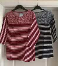 NEW~JOJO MAMAN BEBE~COTTON JERSEY MATERNITY TOP S XS 6 8 10 RED NAVY BLUE