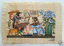 Papyrus Painting From Egyptian Art Caravan of King Tut Hunting