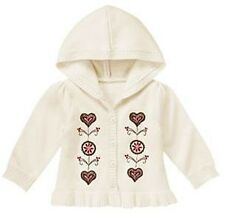 Gymboree Alpine Sweetie Ivory Hooded Ruffle Heart Sweater 12-18 or 3T NWT $36.75