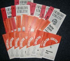 Charlton Home Programmes 1960s **FREE POSTAGE IN UK**