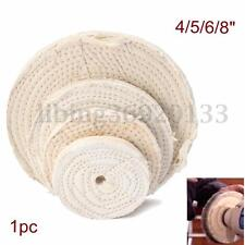 "4/5/6/8"" 50 Ply Buffing Polishing Wheel 10mm/0.39"" Thick Buffer Polish Grinding"