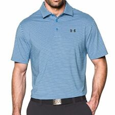 UNDER ARMOUR MENS UA GOLF PLAYOFF HEATGEAR POLO SHIRT BLUE S OR L  #1253479-NWT
