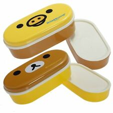 Japanese Bento Box Rilakkuma Kawaii Children's Novelty Lunchbox with Chopsticks