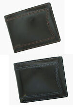 Mens Genuine Leather Leather Bifold Wallet / Gift Box