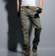 Mens Casual Overalls Military Army Trousers Cargo Combat Outdoor Work Pants