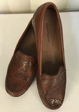 Hush Puppies Bramhall / Exeter Black Saddle Leather Loafers Moccasins 7 8 9 *