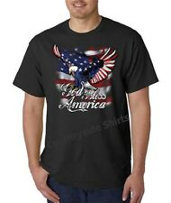 Patriotic God Bless America Eagle T-Shirt All Sizes And Colors (634)