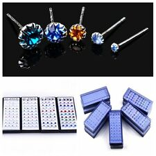 Sale 40PCS Silver plated Women Sunflower Crystal Rhinestone Ear Stud Earrings