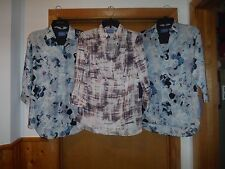 Long Sleeve Blouses Simply Vera Vera Wang size S,XS, Multi Blue,Open Back NWT