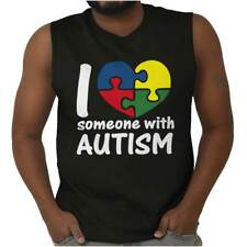 I Love Someone With Autism Shirt Cute Autism Awareness Unisex Sleeveless Tee