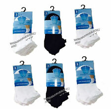 12/6 Pairs Girls/Kids Lace Trainer Socks Sports Socks Cotton Blend White Black