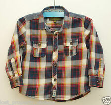 Baker by Ted Baker shirt age 18-24 months baby red blue plaid checked denim