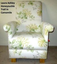 Laura Ashley Honeysuckle Trail Fabric Adult Chair Floral Shabby Chic Flowers New