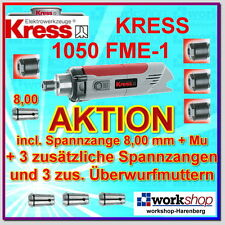 KRESS 1050 FME-1 1050FME-1 Milling motor with 4 Collets Nuts Year 2016