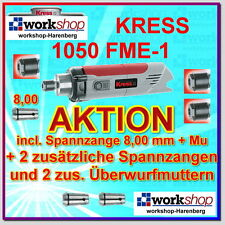 KRESS 1050 FME-1 1050FME-1 Milling motor with 3 Collets Nuts / Year 2016