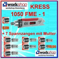 KRESS 1050 FME-1 1050FME-1 Milling motor with 8 Collets Nuts Year 2015