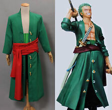 One Piece New World Zoro Costume Cosplay Outfit Uniform Anime Manga Halloween