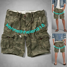 NWT ABERCROMBIE & FITCH MENS CARGO SHORTS CAMO SIZE 36 A&F