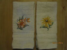 2 Flower Themed Hand Towels Tiger Lily & Black/Brown Eyed Susan, Wildflowers