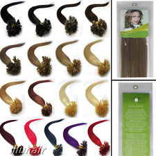 """100S 16""""-26""""Fusion U/Nail Keratin Tip Remy Human Hair Extensions Multiple Colors"""