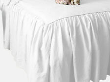 CHOOSE SIZE & DROP LENGTH SOLID WHITE DUST RUFFLE BED SKIRT 100% COTTON 1000TC
