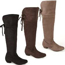NEW WOMENS LADIES BLACK THIGH OVER THE KNEE BLOCK HEEL RIDING BOOTS SHOES SIZE