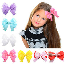 1 Pcs Double Layer Cloth Hair Bow With Clip For Girls Handemade Hairpin